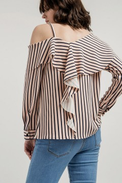 Stripes Poppy Top