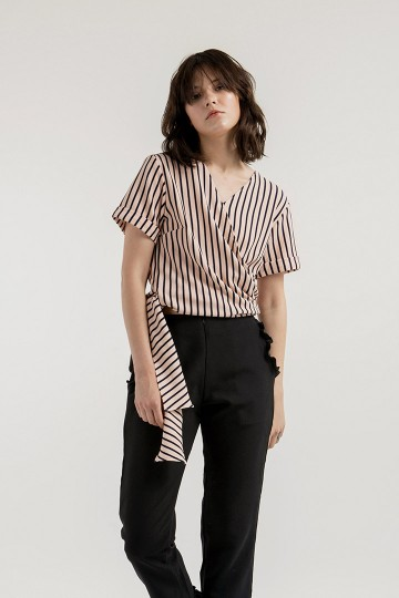 Pink Stripes Wara Top