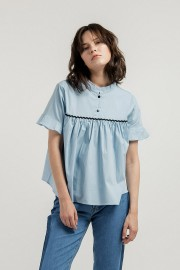 Blue Gemma Top