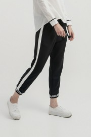 White Listed Jogger Pants