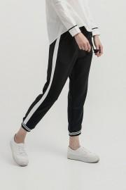 White Listed Jogger Pants