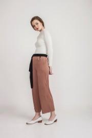 Brown Pleated Pants