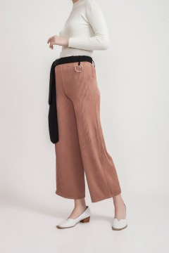 Brown Pleated Pants