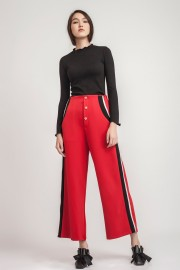 Red Loraine Pants
