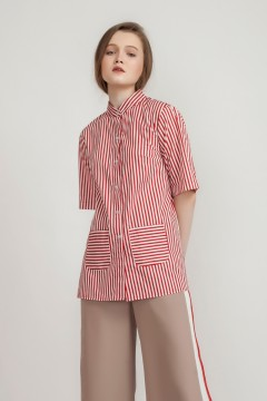 Red Valda Shirt