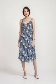 Printed Claudie Dress