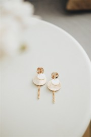 Gold Noel Earrings