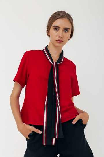 Red Damia Top