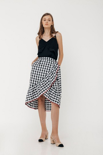 Checked Althea Skirt