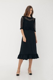 Black Elora Dress Set