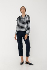 Checked Brenna Outer Top