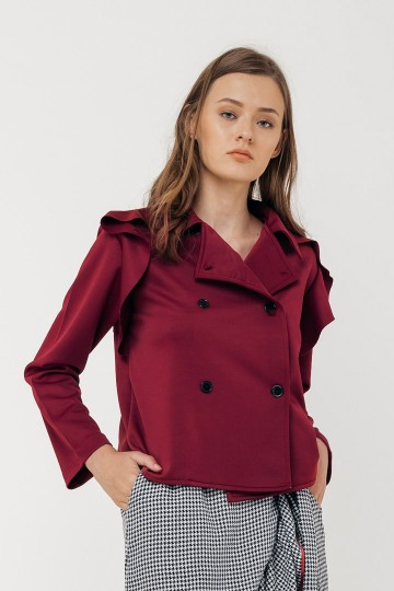 Maroon Brenna Outer Top