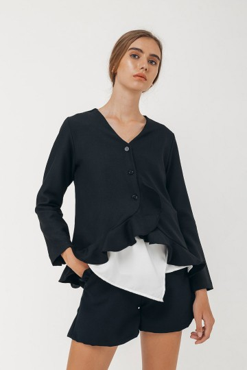 Black Shea Top Outer