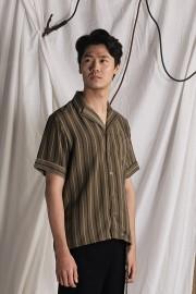 Olive Stripes Sample Shirt