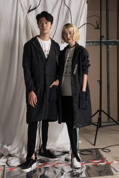 Grey Sweat Wool Coat
