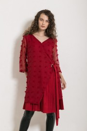 Red Wood Dress