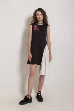 Black Petal Dress