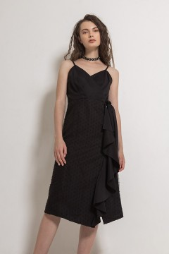 Black Cloudia Dress