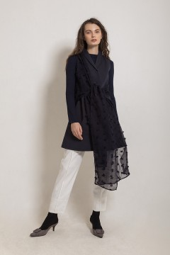 Navy Bloom Outer Dress
