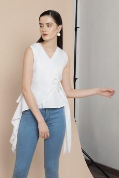 White Praya Peplum