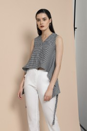 Houndstooth Elise Top