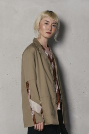 Khaki Satya Outer Top