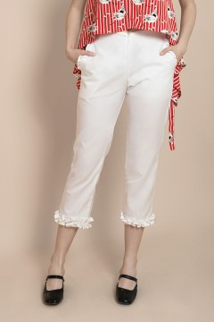 White Lena Pants