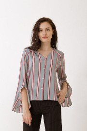 Stripes Saffron Top