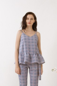 Checked Reva Peplum