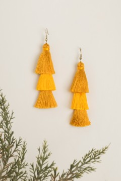 Canary Tripled Earrings