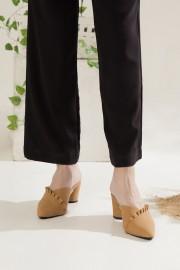 Ruffled Bloked Heels