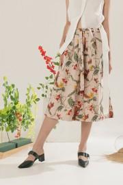 Creme Blumen Culottes