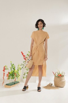 Caramel Marion Dress