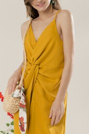 Mustard Waves Dress