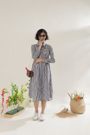 Stripes Malva Dress