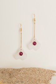 Red Pearl Earrings