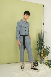 Denim Anchor Jumpsuit