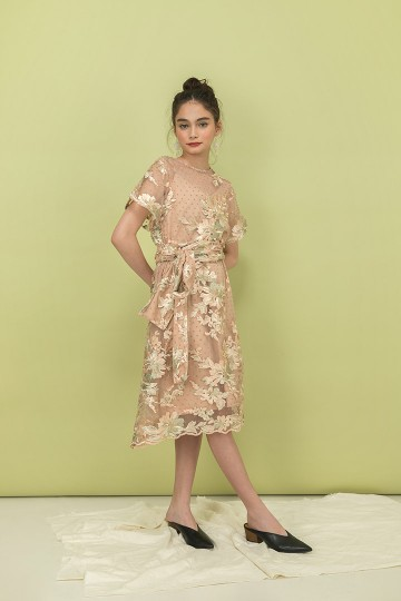 Creme Athena Dress