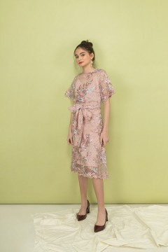 Dusty Pink Athena Dress