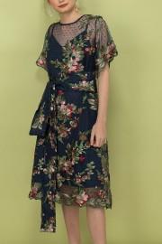 Navy Athena Dress