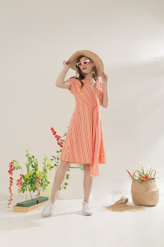 Peach Kala Dress