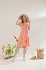 Peach Kala Dress