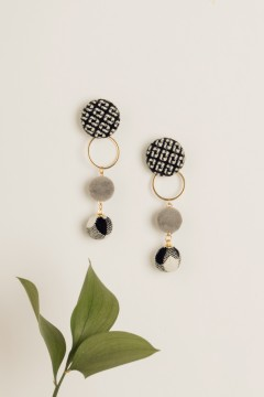 Monochrome Dot Earrings