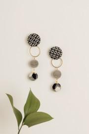 Monochrome Dot Earrings