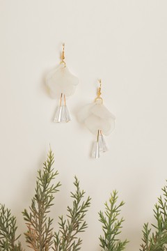 White Bell Earrings