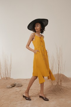 Mustard Elora Dress