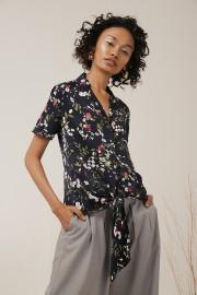 Midnight Flora Lou Shirt