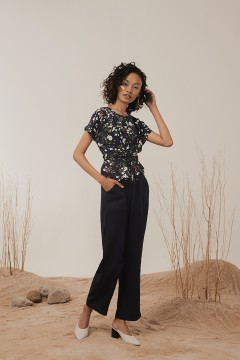 Midnight Flora Jumpsuit