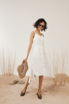 White Elora Dress