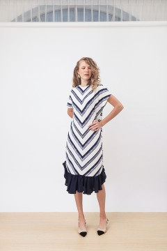 Navy Blaster Maura Dress